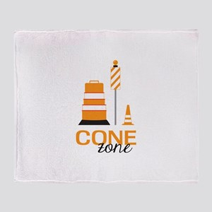 Cone Zone Throw Blanket