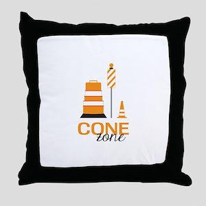 Cone Zone Throw Pillow