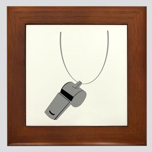 Referee Whistle Coach Framed Tile