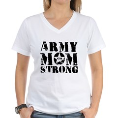 Army Mom Strong 1775 T-Shirt V-Neck