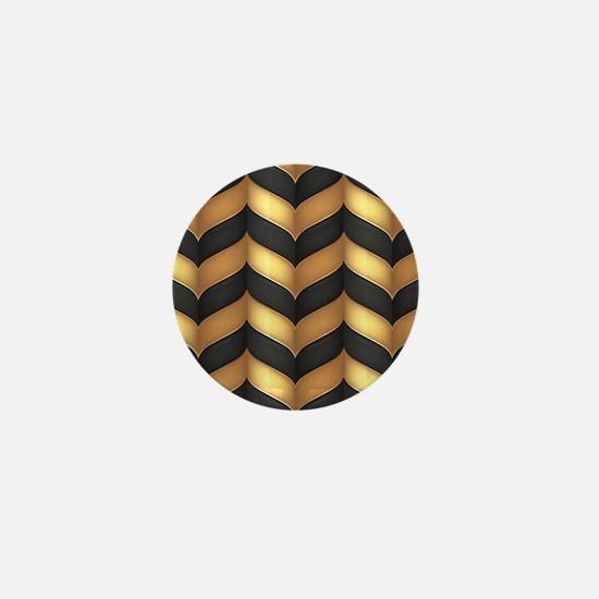 Black and Gold Mini Button