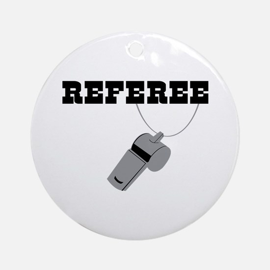Referee Whistle Round Ornament