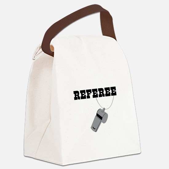 Referee Whistle Canvas Lunch Bag