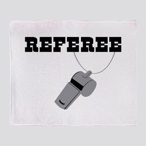 Referee Whistle Throw Blanket
