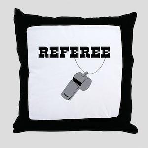 Referee Whistle Throw Pillow