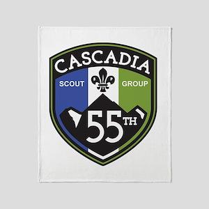 55th Cascadia Throw Blanket