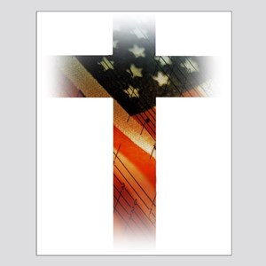 Flag in Cross Posters