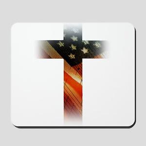 Flag in Cross Mousepad