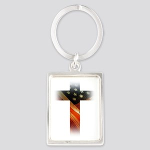 Flag in Cross Keychains