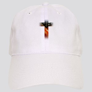 Flag in Cross Baseball Cap