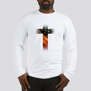 Flag in Cross Long Sleeve T-Shirt