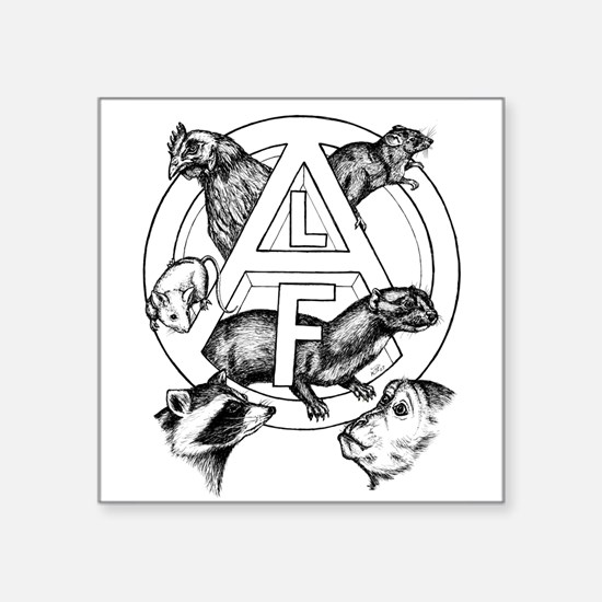 "Cute Animal liberation front Square Sticker 3"" x 3"""