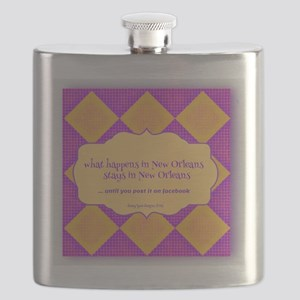 New Orleans Saying Flask