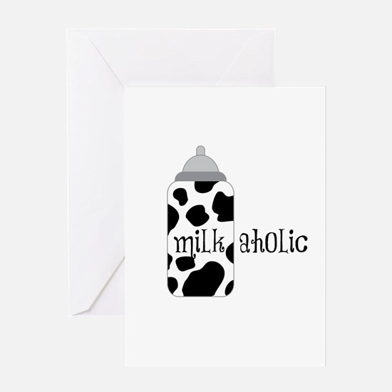 Milkaholic Greeting Cards