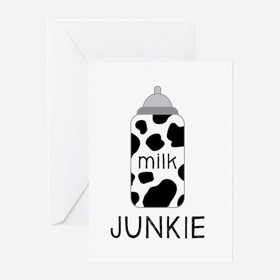 Milk Junkie Greeting Cards