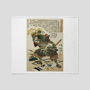 Samurai Endo Kiemon Naotsugu Throw Blanket