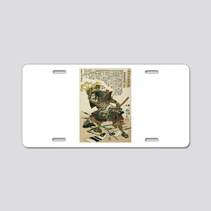 Samurai Endo Kiemon Naotsug Aluminum License Plate