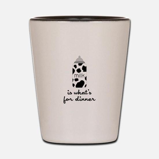 What's for Dinner Shot Glass