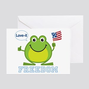 Freedom Frog: Greeting Cards (Pk of 10)