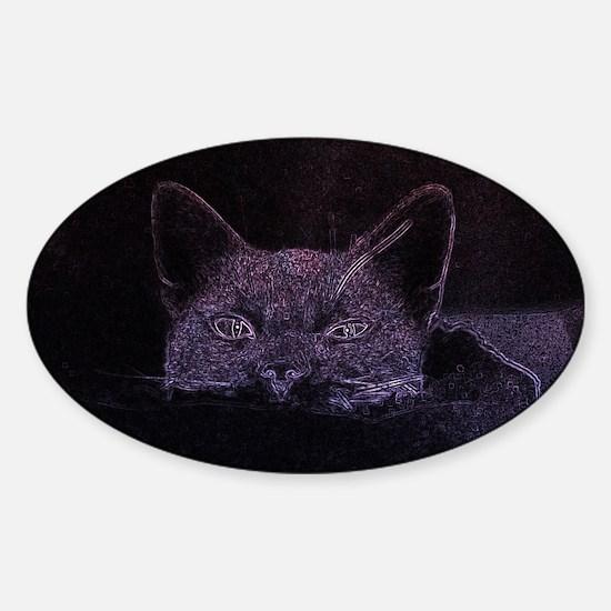 Black Cat Peeking Decal