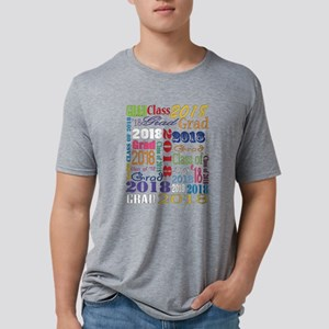 2018 Graduation Typography Mens Tri-blend T-Shirt
