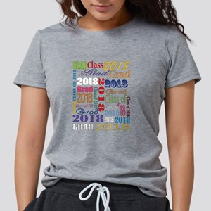 2018 Graduation Typograph Womens Tri-blend T-Shirt