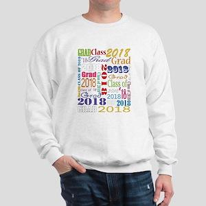 2018 Graduation Typography Sweatshirt
