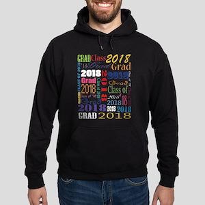 2018 Graduation Typography Hoodie (dark)