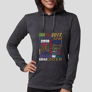 2018 Graduation Typography Womens Hooded Shirt