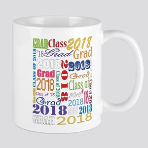 2018 Graduation Typography 11 oz Ceramic Mug
