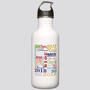 2018 Graduation Typogr Stainless Water Bottle 1.0L