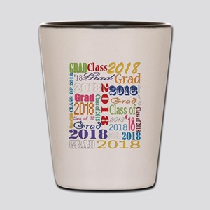 2018 Graduation Typography Shot Glass