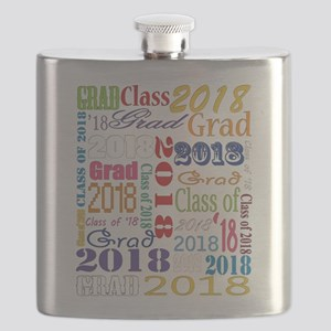 2018 Graduation Typography Flask