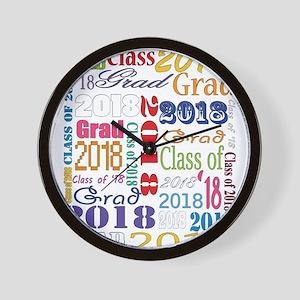 2018 Graduation Typography Wall Clock