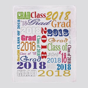 2018 Graduation Typography Throw Blanket