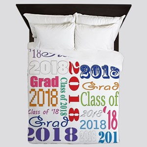 2018 Graduation Typography Queen Duvet
