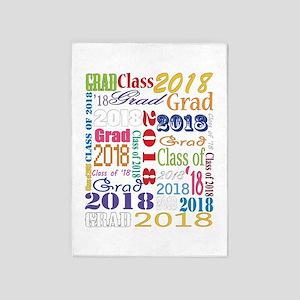 2018 Graduation Typography 5'x7'Area Rug