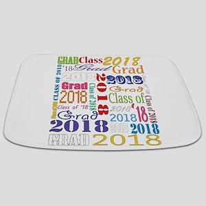 2018 Graduation Typography Bathmat