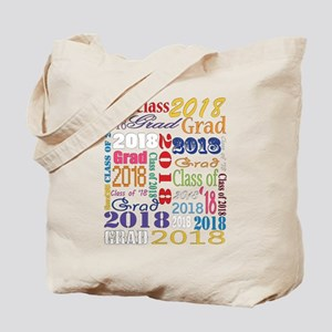 2018 Graduation Typography Tote Bag
