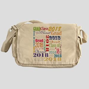2018 Graduation Typography Messenger Bag