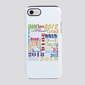 2018 Graduation Typography iPhone 7 Tough Case