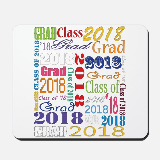 2018 Graduation Typography Mousepad