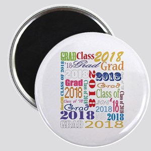 2018 Graduation Typography Magnet