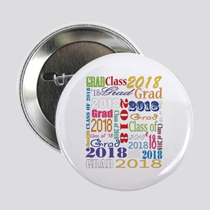 "2018 Graduation Typography 2.25"" Button (10 pack)"