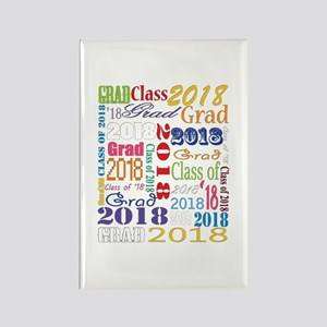2018 Graduation Typography Rectangle Magnet