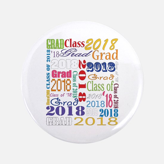 "2018 Graduation Typography 3.5"" Button"