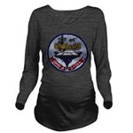 USS CORAL SEA Long Sleeve Maternity T-Shirt