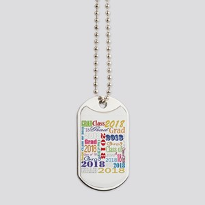 2018 Graduation Typography Dog Tags