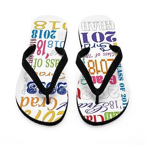 64c2c6a87bf255 2018 Grad Flip Flops - CafePress