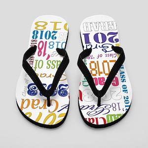 e712cdb3c 2018 Graduation Typography Flip Flops